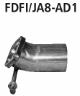 Adaptor after catalytic converter (only for Fiesta JA8 1,4l + 1,6l petrol models)